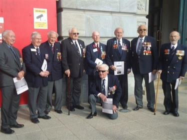 Guest veterans at the Battle of the Atlantic service in May 2013