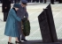 Her Majesty Queen Elizabeth II and Prince Philip place a wreath
