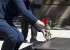 Former US Secretary Hillary Clinton placing a rose on the Tomb of the Unknown Warrior