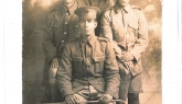 Postcard showing photograph of four soldiers of the Maori Contingent