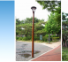 Three images of the Songpa street lamp to be installed in Christchurch