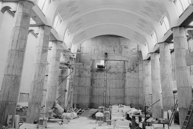 hall of memories under construction