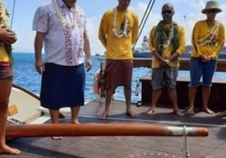 The moment of departure of a double-hulled canoe from Tahiti to Aotearoa New Zealand will be a very special moment, say Tuia 250 National Coordinating Committee Co-Chairs Hoturoa Barclay-Kerr and Dame Jenny Shipley.