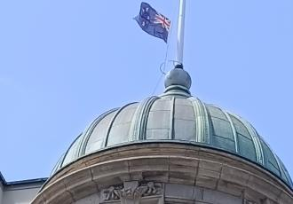 At the request of the Prime Minister, the Right Honourable Jacinda Ardern, the New Zealand Flag is to be flown at half mast on all Government and public buildings on Wednesday 21 April, the day of the New Zealand Memorial Service for His Royal Highness.