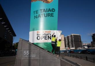 A karakia will be held on Thursday 28 May to re-open Te Papa before visitors begin to enter the building from 10am.