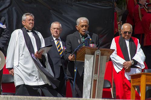 "Te Puhu Pātara recites the Ode in te Reo Māori<p class=""detail-small"">Ministry for Culture and Heritage</p>"