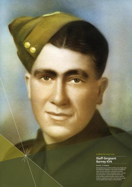 """Staff-Sergeant Barney Kirk<p class=""""detail-small"""">Ministry for Culture and Heritage</p>"""