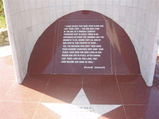 "Inscription written by Mustafa Kemal Atatürk<p class=""detail-small"">Ministry for Culture and Heritage</p>"