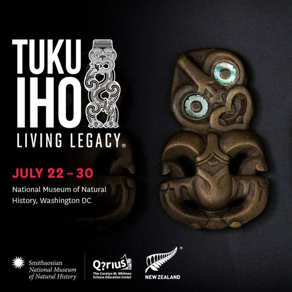 Promotional poster for Tuku Iho exhibition in 2017