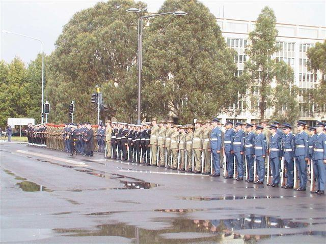 """Honour guard gathers for the unveiling<p class=""""detail-small"""">Ministry for Culture and Heritage</p>"""