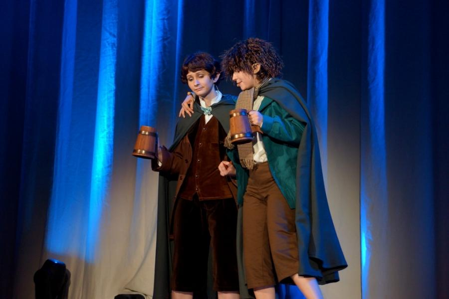 """Two Hobbits at Frankfurt<p class=""""detail-small"""">Ministry for Culture and Heritage</p>"""