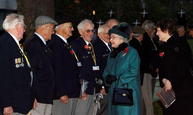 "New Zealand veterans meet Her Majesty Queen Elizabeth II<p class=""detail-small"">Image courtesy of Kent Gavin Associates</p>"