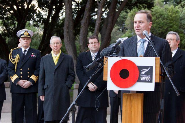 "Prime Minister John Key at the August 2012 announcement<p class=""detail-small"">Ministry for Culture and Heritage</p>"
