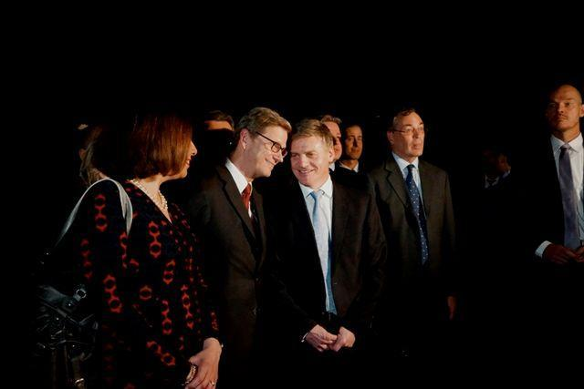 "Minister Bill English and Mary English with German Foreign Minister Guideo Westerwette in October 2012<p class=""detail-small"">Image courtesy of Lisa Gardiner</p>"