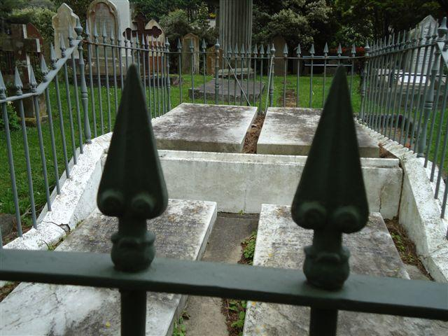 "View of Wakefield family plot<p class=""detail-small"">Ministry for Culture and Heritage</p>"